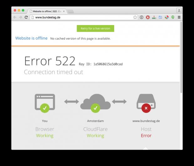 Bundestag unter DDoS