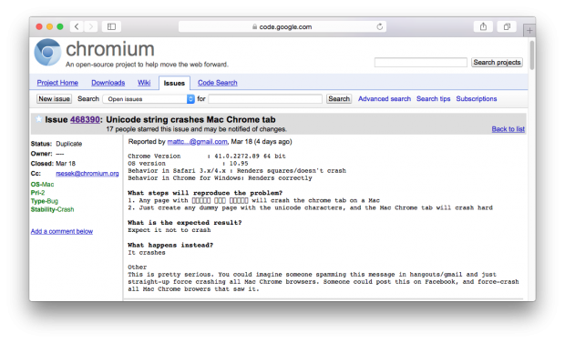 Chrome Fehler