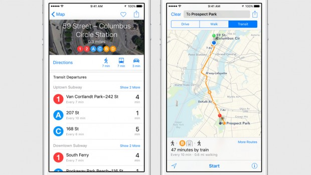 Maps iOS9