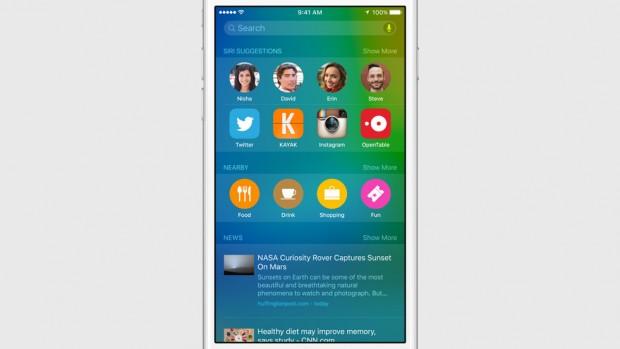 Spotlight iOS9