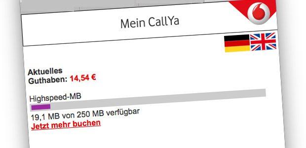 Restvolumen CallYa
