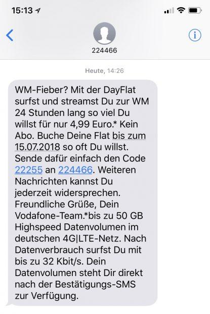Vodafone Dayflat Unlimited